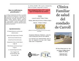 Clínica Familiar de salud del condado de Carroll