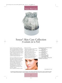 Colección Sonya Skin Care