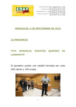 Noticias 09-09-15