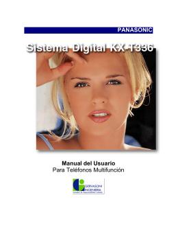 PANASONIC Manual del Usuario Para Teléfonos Multifunción