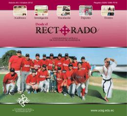 Mensaje del Rector - Universidad Católica de Santiago de Guayaquil
