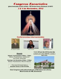 Congreso Eucarístico - Divine Mercy Oakland