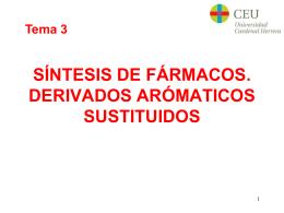 SÍNTESIS DE FÁRMACOS. DERIVADOS