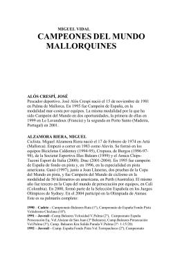 CAMPEONES DEL MUNDO MALLORQUINES