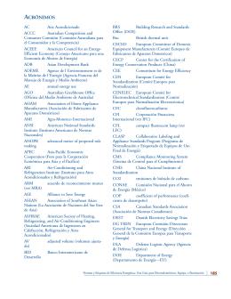 Acrónimos, Glosario, Referencias, e Índice de Términos