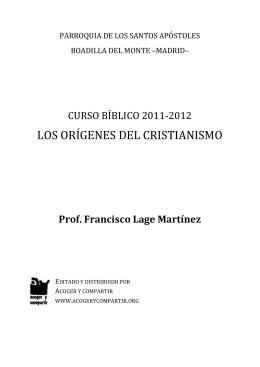 Curso Bíblico 2011-2012 Los orígenes del cristianismo