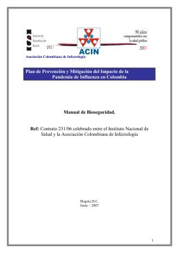 Manual de Bioseguridad - Ministerio de Salud y Protección Social