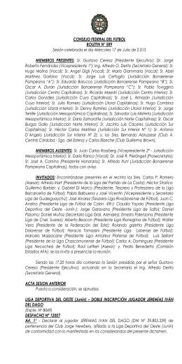 CONSEJO FEDERAL DEL FÚTBOL - Asociación del Fútbol Argentino