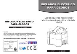 INFLADOR ELECTRICO PARA GLOBOS INFLADOR ELECTRICO