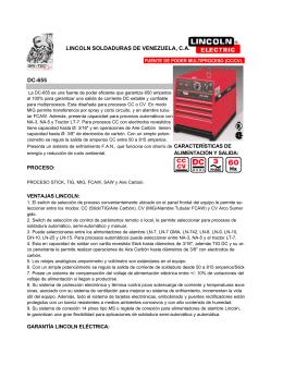LINCOLN SOLDADURAS DE VENEZUELA, C.A.