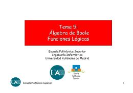 ALGEBRA BOOLE - Universidad Autónoma de Madrid