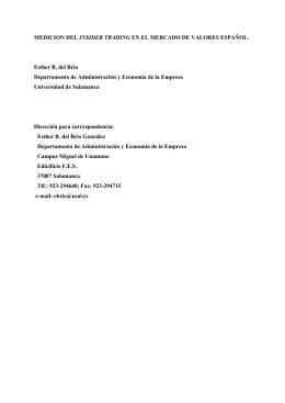 Medición insider trading - Diarium