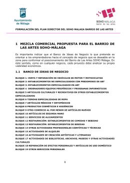 Banco de Ideas de Negocio SOHO - SOHO MALAGA Barrio de las