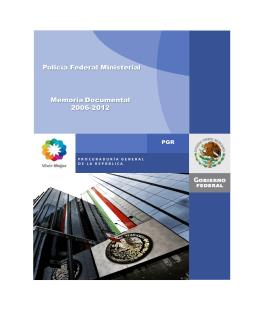 27. PFM Policía Federal Ministerial