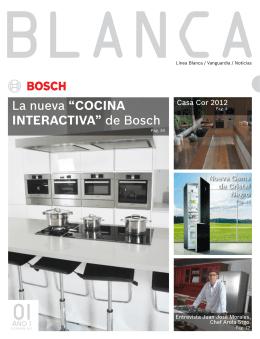 """La nueva """"COCINA INTERACTIVA"""" de Bosch"""