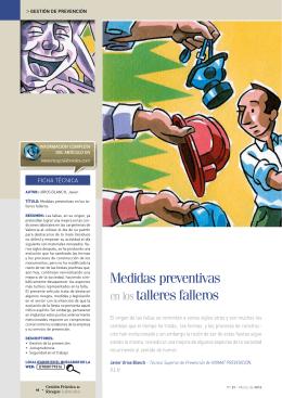 Medidas preventivas en los talleres falleros