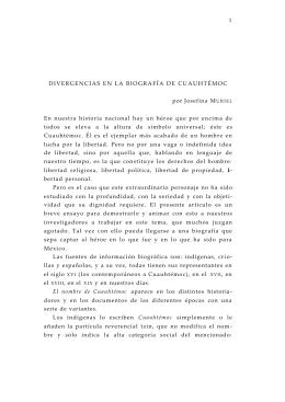 Divergencias en la biografía de Cuauhtémoc - E-journal