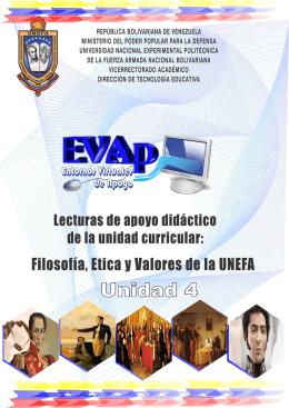 Filosofía, Ética y Valores de la UNEFA Unidad 4: Defensa Integral