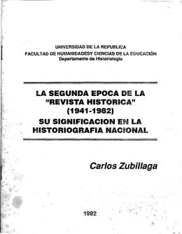 Carlos Zubillaga - Publicaciones Periódicas del Uruguay