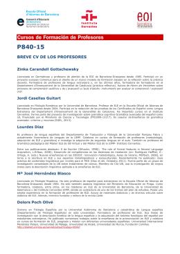 P840-15 - Escola Oficial d`Idiomes de Barcelona Drassanes