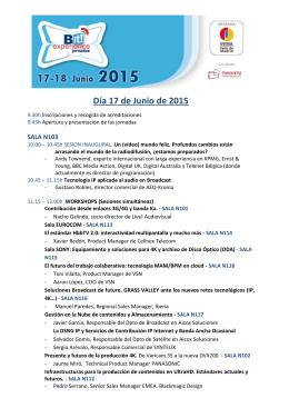 Día 17 de Junio de 2015