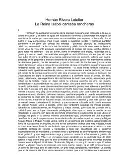 Hernán Rivera Letelier La Reina Isabel cantaba rancheras