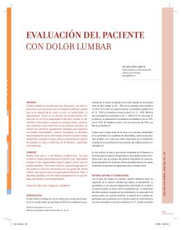 evaluación del paciente con dolor lumbar