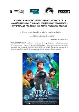 Lanzamiento videoclip y cartel final ATRAPA LA
