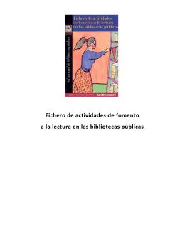 Fichero de actividades de fomento a la lectura en las bibliotecas