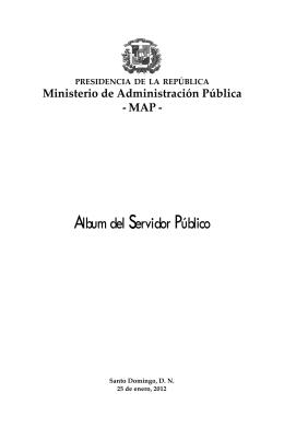 Album del Servidor Público - Ministerio de Administración Pública