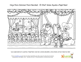 Hoja Para Colorear Para Navidad - El Chef Solus Ayuda a Papá Noel