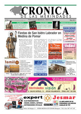 Fiestas de San Isidro Labrador en Medina de Pomar