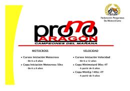 MOTOCROSS Cursos Iniciación Motocross Copa Iniciación