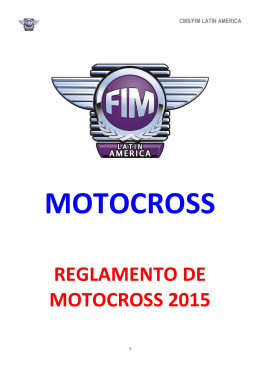 REGLAMENTO DE MOTOCROSS 2015