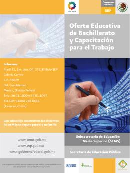Oferta Educativa de Bachillerato y Capacitación para el Trabajo