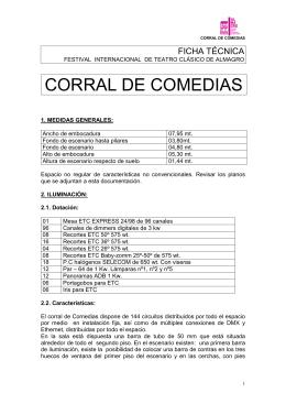FICHA TÉCNICA CORRAL DE COMEDIAS