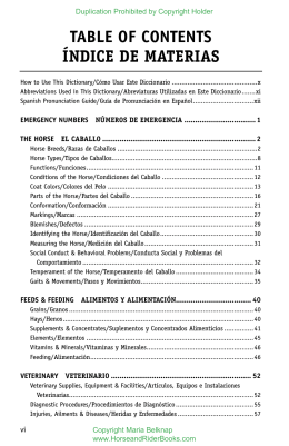 table of contents índice de materias