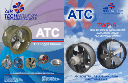 ATC INDUSTRIAL TUBULAR AXIAL FLOW DIRECT DRIVE FANS