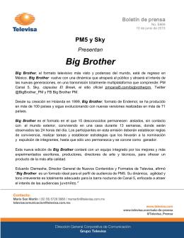 PM5 y Sky Presentan Big Brother