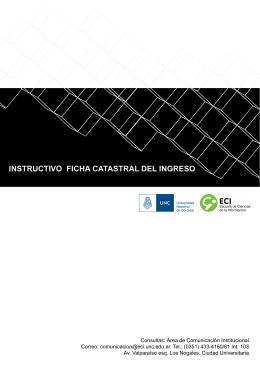 INSTRUCTIVO FICHA CATASTRAL DEL INGRESO