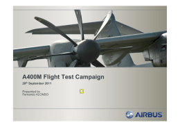 A400M Flight Test Campaign