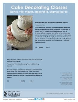 Cake Decorating Classes Donec velit mauris
