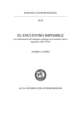 EL ENCUENTRO IMPOSIBLE - GUPEA