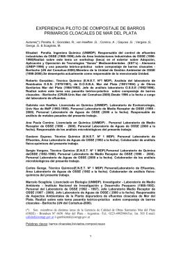 Artículo Compostaje de Barros - Secretaría de Ambiente y