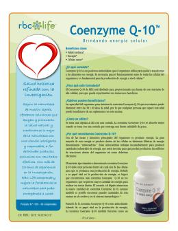 Coenzyme Q-10™ - RBC Life Info