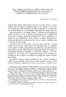 AnalesIIE58, UNAM, 1987. Tres cabezas colosales olmecas