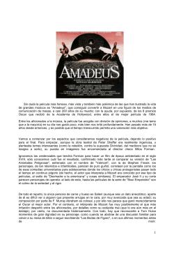 TRABAJO AMADEUS - IES Conde Lucanor