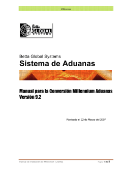 Sistema de Aduanas - Betta Global Systems