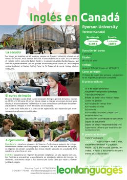 Inglés en Canadá Ryerson University