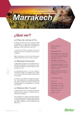 Marrakech - Viajeros y Aventureros
